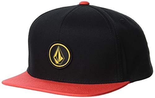 Volcom Jungen Quarter Snapback Baseball Cap, Feuerrot, Einheitsgröße