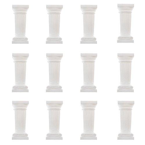 FLAMEER 12x Cuarteto Griego Romano Columna Arquitectura Pedestal Soporte De Flores Decoración De La Boda - 3