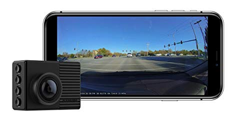 """Garmin Dash Cam 66W, Extra-Wide 180-Degree Field of View In 1440P HD, 2"""" LCD Screen and Voice Control, Very Compact with Automatic Incident Detection and Recording , Black (Renewed)"""