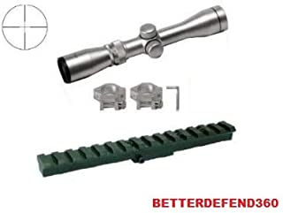 GOTICAL Mosin Nagant Monte Carlo Rifle M44 91-30 M91-30 7.62x54 Rail Mount + 2-7x32 Long Eye Relief Silver Finish Mil Dot Reticle Sight