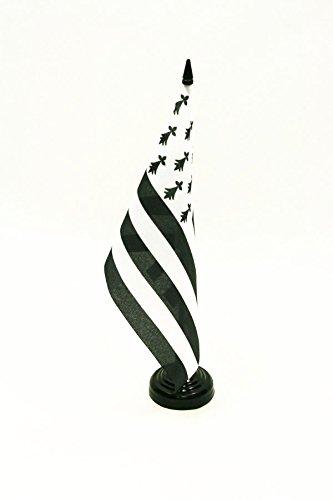 AZ FLAG Drapeau de Table Bretagne 21x14cm - Petit Drapeaux DE Bureau Breton - France 14 x 21 cm