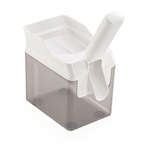 Leifheit 37200 Verione 2.0 Bianco Snocciolatore per Ciliegie, Veloce, Professionale e Precisa, Denocciolatore con Raccoglitore, acciaio inossidabile, 15.2 x 10.2 x 29.2 cm