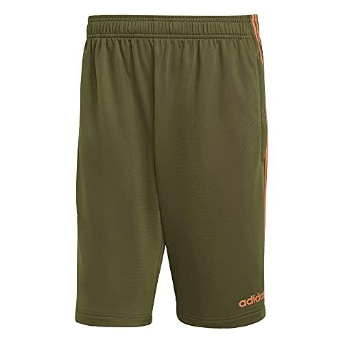 adidas Mens Essentials 3-Stripes Shorts Wild Pine Large