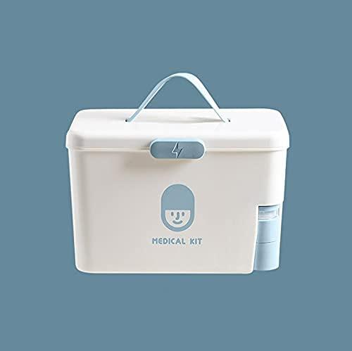 DLILI Caja de medicamentos Caja de Primeros Auxilios Caja de Medicina de diagnóstico portátil Caja de Almacenamiento para niños con Soporte para Pastillas de 7 días para el Cuidado del hogar y EME