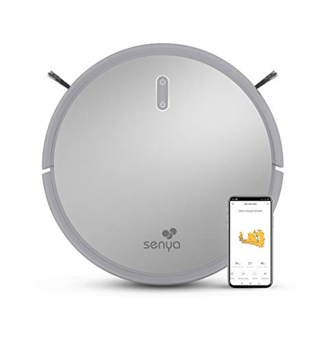 Senya aspirateur Robot Laveur My Little Robot SYCN-VC009, connecté en WiFi et Programmable Via Application/télécommande, 2000Pa, 120mins pour Tapis et sols durs, Silencieux <60 DB, idéal pour Poils…
