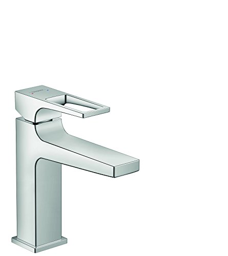 hansgrohe Metropol Modern Low Flow Water Saving 1-Handle 1 7-inch Tall Bathroom Sink Faucet in Chrome, 74506001
