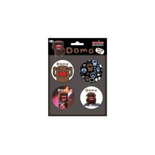 Domo-Kun Button Set