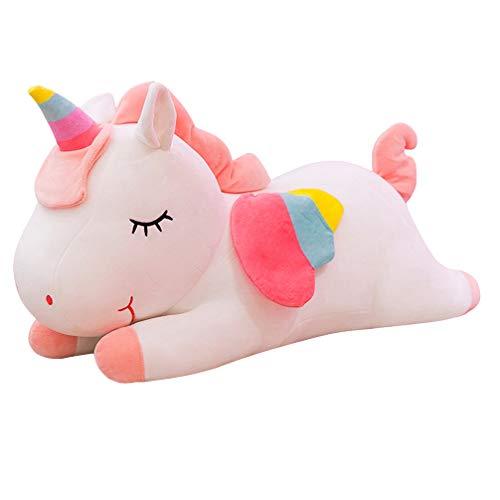 Garneck 1 Unid Arcoiris Unicornio Muñeca Felpa Rellena Encantadora Suave Compañero de Sueño Almohada de Tiro Animal Juguete para Adultos Niños