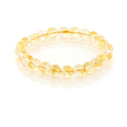 Citrine Bracelet, CITRINE Stretch Bracelet, Crystal Bracelet, Healing Bracelet, Quartz Crystal, Citrine Bead Bracelet, Gift for Women (7.5, 10 MM)