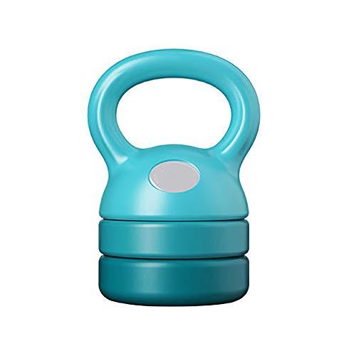JMFHCD Ajustable Kettlebell Weight Sets Mancuerna Profesional con Mango Ancho para Levantamiento De Pesas Culturismo Perder Peso Barra con Pesas,Azul