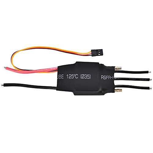 Topiky Controlador de Velocidad eléctrico a Prueba de Agua 60A ESC sin escobillas refrigerado por Agua con 5V/3A UBEC, disipar Calor/bajo Ruido/Plug and Play, para el Modelo de Barco RC Part