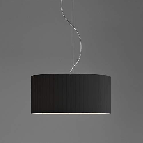 Lampenkap Drum Kleur: Zwart geplooid, Grootte: 23 cm H x 50 cm Ø