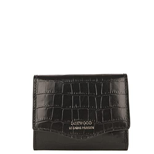 Loxwood - Portamonete in pelle con stampa coccodrillo Nero taglia unica