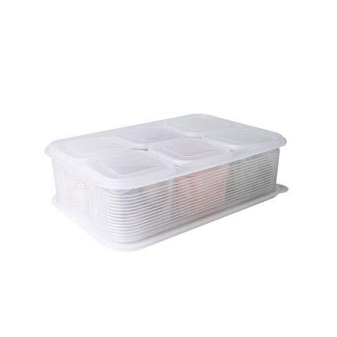 YAANGSI Organizzatore di frigorifero impilabile per dispensa in plastica Trasparente per alimenti per frigoriferi, cucine, piani di lavoro, armadi (Size : B)