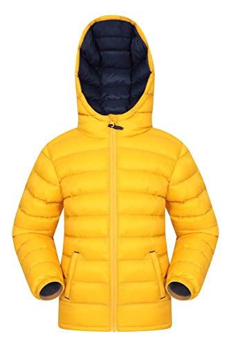 Mountain Warehouse Seasons Gepolsterte Jacke für Kinder, geeignet für alle Jahreszeiten - wasserdichte Winterjacke, leicht & warm Dunkelgelb 9-10 Jahre