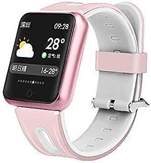 WUAZ Pantalla a Color Brazalete de Fitness con pulsómetro, Bluetooth Inteligente Aptitud del Reloj del Reloj podómetro de oxígeno en Sangre monitores esfigmomanómetro/Pulso PM Llame SMS