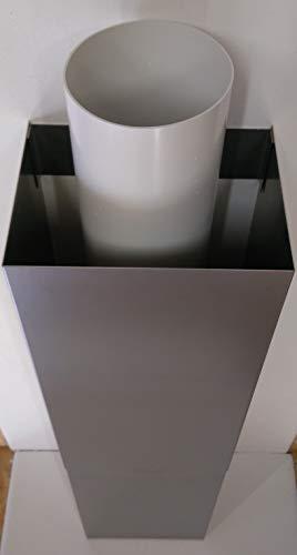 VentilationNord Edelstahl Rohr oder Kanal Verkleidung Abluftverkleidung Schachtverlängerung Dunstabzug Inselhauben U Form 1m lang Form Groß