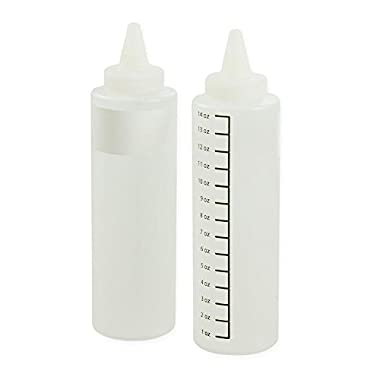Charcoal Companion 14 oz. Clear Squeeze Bottle (Set of 2)