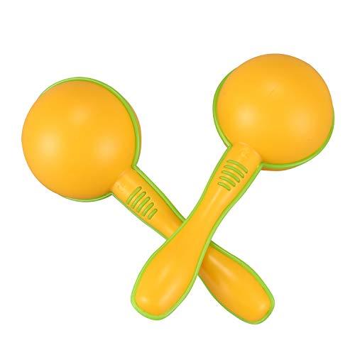 Farfly Maraca de Huevo de plastico Amarillo Herramienta de Juguete de Ritmo Musical de Educacion temprana para Ninos Chicos