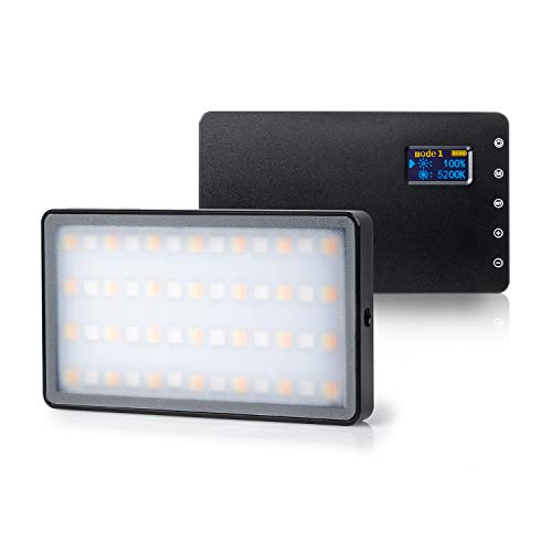 VILTROX Weeylite RB08P Led Videoleuchte RGB Video Videolicht Kamera Licht Einstellbar Zweifarbig 2500K ~ 8500K Fotobeleuchtung für DSLR Camcorder Micro Film Studio Fotografie