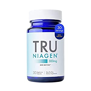 Patented NAD+ Booster Supplement More Efficient Than NMN - Nicotinamide Riboside for Cellular Energy Metabolism & Repair. Vitality, Muscle Health, Healthy Aging - 30ct - 300mg (1 Month / 1 Bottle)