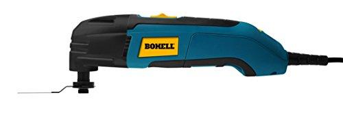 Bohell MF300 - Multiherramienta 300 W, rasca, lija y corta, velocidad regulable 15.000 - 22.000 rpm, ángulo de oscilación 2.8º