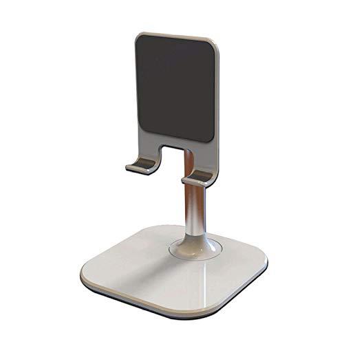 Eantpure Sujeta movil Mesa,Soporte de Escritorio de Metal telescópico Lazy iPad Soporte-Blanco,Soporte Tablet Mesa