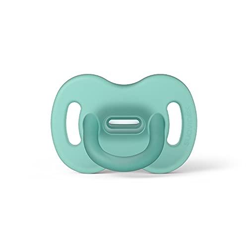 Suavinex Nuevo Chupete Para Dormir Todo Silicona, Para Bebés 0/6 meses, Chupete con Tetina Fisiológica SX Pro, Super Blandito y Flexible, Color Verde