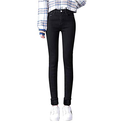 HINK Pantalones de Mujer, Moda Mujer de Talla Grande más Terciopelo elástico...