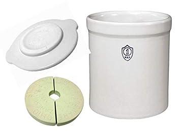 OHIO STONEWARE 5 Gallon Fermentation & Preservation Crock - Crock Lid Stones