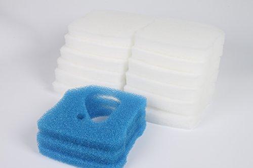 LTWHOME Filterschwamm Passend für Eheim Professional 3 250, 350, 600/2071, 2073, 2074, 2075(3 x Blau+ 12 x Weiß)