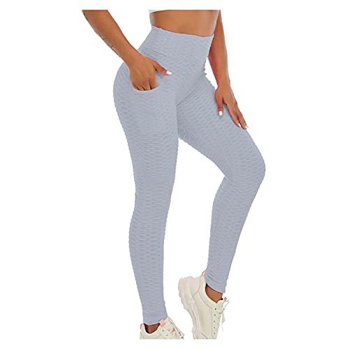 QTJY Los Pantalones de la Yoga de la Cadera-Levantamiento de la Cintura Alta de Las Mujeres, Deportes Corrientes de la Aptitud del Gimnasio estiran Las Medias de Secado rápido AL