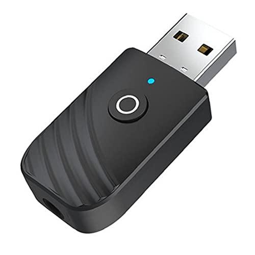 Sraeriot Adaptador De Audio Portátil Inalámbrico Transmisor Usb 3in1 Para Dispositivos De Audio De 3.5 Mm, Transmisor De Receptor Bluetooth