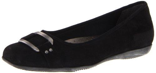 Trotters Women's Sizzle Black Suede Flat 7.5 W