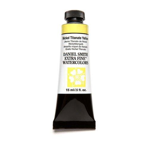 DANIEL SMITH Extra Fine Watercolor 15ml Paint Tube, Nickel Titanate Yellow