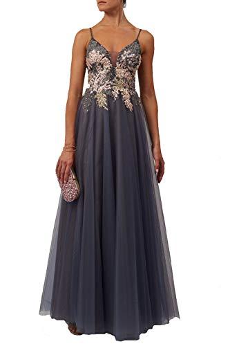 Mascara Marine Blau Mc11932 Bestickt Spitze Oben Prom Kleid 42