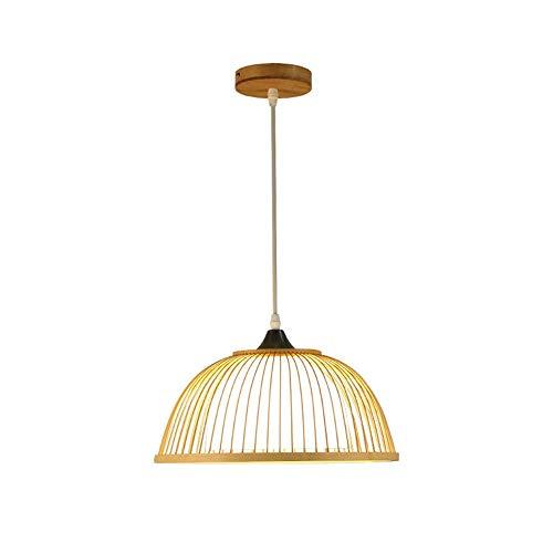 LLT Araña Útil Nordic Modern Minimalista Diy Tejido de Bricolaje Bamboo E27 Chandelier Creative Unique Simple Corredor Pasante Lámpara Lámpara de Techo Lámpara Colgante
