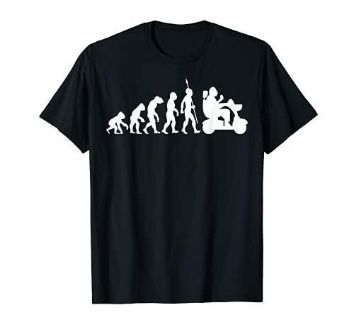 Elektrischer Rollstuhl Witzig Fun Rentner Evolution Lustig T-Shirt