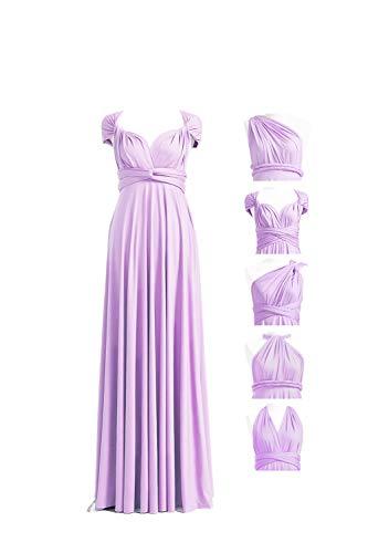72STYLES Infinity Dress With Bandeau, Dress, Bridesmaid Dress, Long,Short, , Multi-Way Dress, Twist Wrap Dress Long Plus Size Lavender