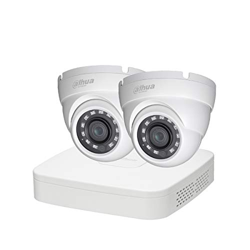 Dahua–Kit Eco 2Dom 1080P–Kit videovigilancia Grabador de bajo Consumo Tipo y 2Cámaras Domo 1080p