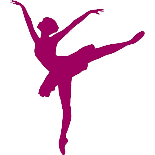 EmmiJules Wandtattoo Ballerina Tänzerin - Made in Germany - in verschiedenen Größen und Farben - Kinderzimmer Mädchen Ballett Sport Wandsticker Wandaufkleber (60cm x 50cm, violett)
