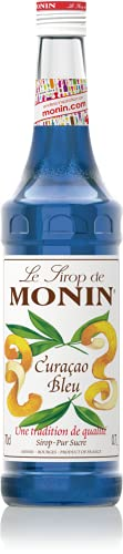 Monin Curacao Bleu (sin alcohol) - 3 botellas x 700