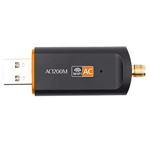 Adaptaror de Red AC WiFi 5G 1200M Receptor Amplificador de señal Internet Inalámbrico de Ethernet