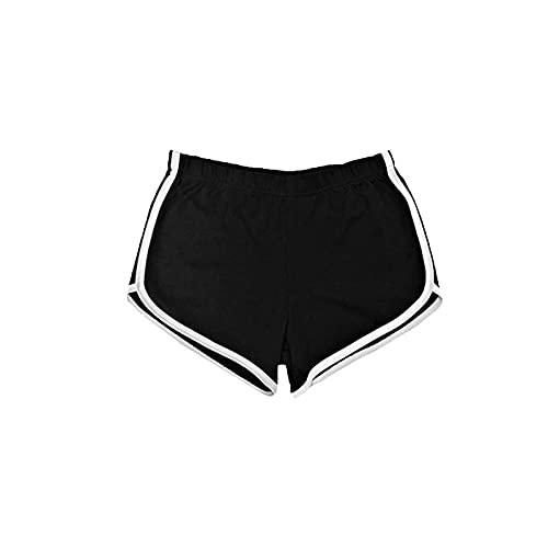 Pantalones Cortos para Mujer Primavera y Verano Pantalones Cortos Deportivos Sueltos y versátiles de Cintura Alta con cordón Pantalones Cortos Deportivos de Cintura elástica Pantalones Cortos S