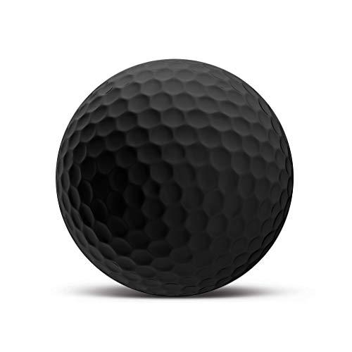 Ge24 Blanko Golfball Black Edition - Individuell Bedruckt mit Ihrem Text Bild oder Logo (3 STK)