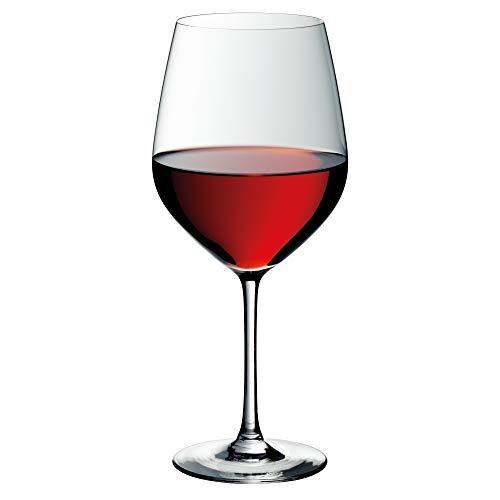 WMF Easy Plus Burgunder Weinglas, 700ml, Kristallglas, spülmaschinengeeignet, transparent