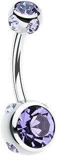 WildKlass Jewelry Aurora Gem Ball Steel Belly Button Ring