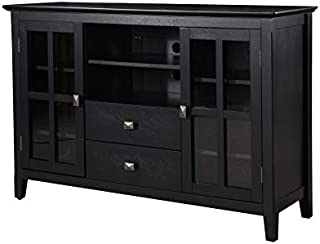 Phoenix Home Wood TV Media Stand, Black