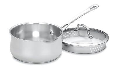 Cuisinart 419-18P Contour Stainless 2-Quart Pour Saucepan with Cover,Silver