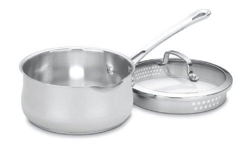 Cuisinart Contour Stainless 2-Quart Pour Saucepan with Cover,Silver